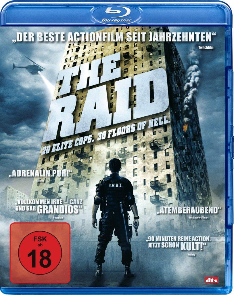 Das offizielle Blu-ray-Cover von The Raid