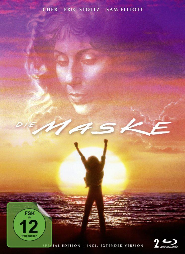 Das Mediabook-Cover von Die Maske mit Eric Stoltz im Sonnenuntergang