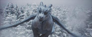 Siveth fliegt über eine verschneite Waldlandschaft, Dragonheart - Die Vergeltung