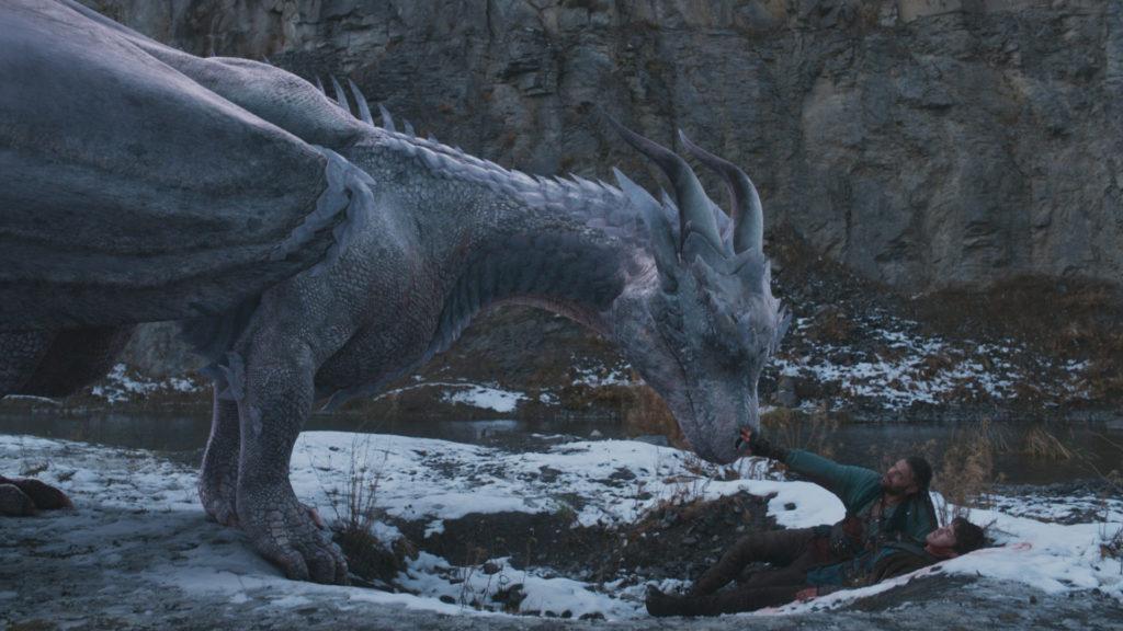 Siveth steht Darius und Lukas gegenüber, die auf dem Boden liegen, Dragonheart - Die Vergeltung