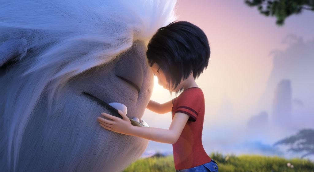 Yi und Everest stehen sich Stirn an Stirn gegenüber, Everest - Ein Yeti will hoch hinaus © Universal Pictures Germany