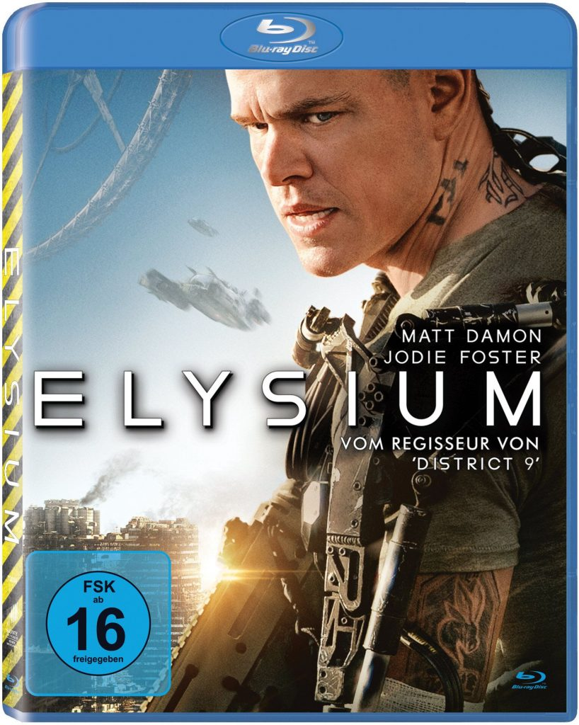 Das Blu-Ray Cover von Elysium © 2013 MRC II Distribution Company L.P. All Rights Reserved.