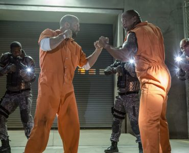 """Jason Statham & Dwayne Johnson in """"Fast & Furious 8"""" by Universal Pictures"""