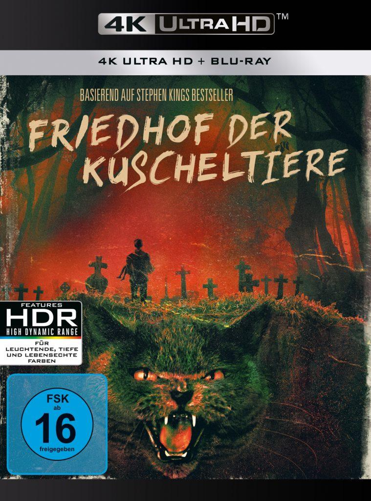 """Das 4k-Bluray Cover von Friedhof der Kuscheltiere. """"Friedhof der Kuscheltiere"""", erhältlich auf DVD, Bluray & 4K (© Paramount Pictures)"""