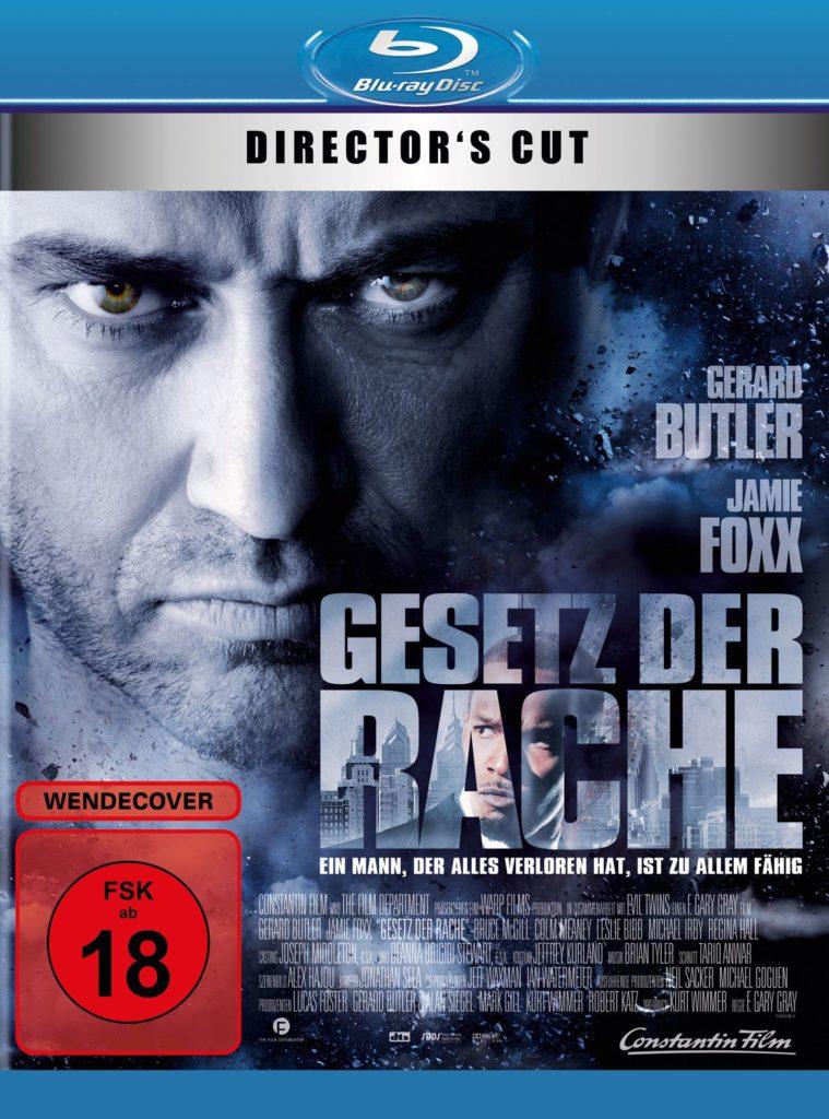 Das Blu-ray Cover von Gesetz der Rache im Director's Cut mit Gerard Butler