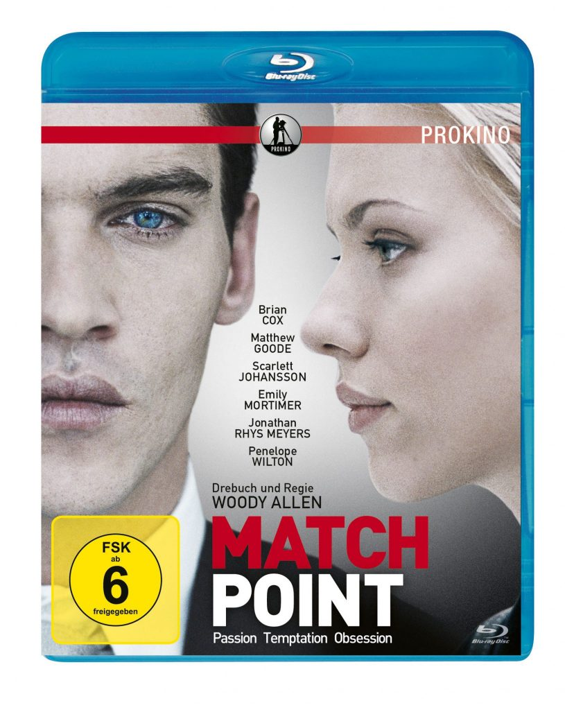 Das Blu-ray-Cover des Films Match Point