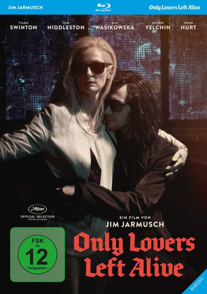 Blu-ray zu Only Lovers Left Alive, Adam und Eve umarmen sich