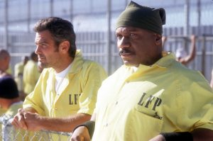 "George Clooney und Ving Rhames in ""Out Of Sight"""