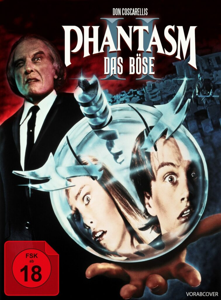 Das Mediabook-Cover von Phantasm 2 mit dem Tall Man im Hintergrund und der Sphere im Vordergrund