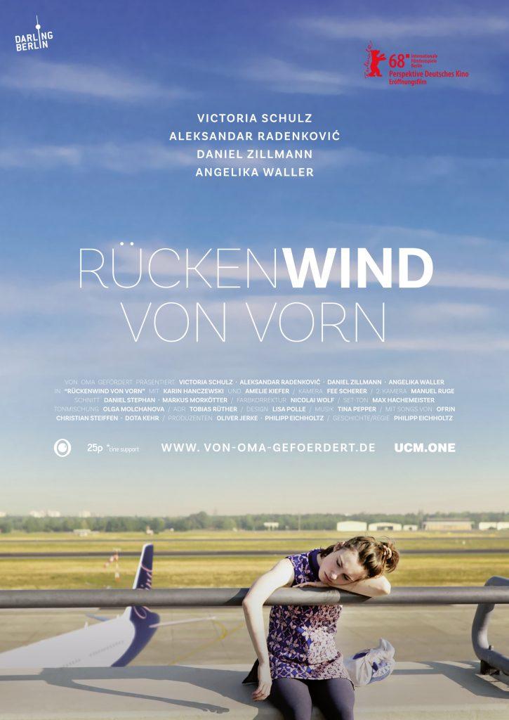"""Poster """"Rückenwind von vorn"""" © Darlin Berlin"""