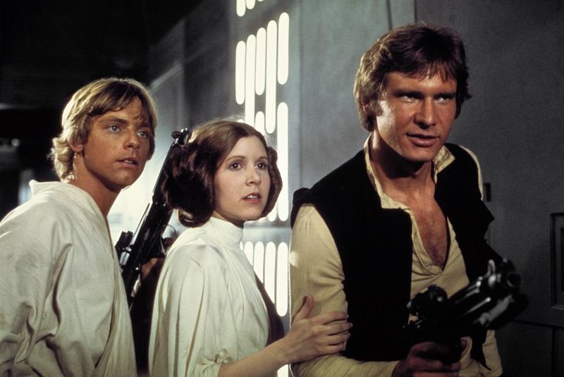 Luke Skywalker, Prinzessin Leia und Han Solo in Erwartung weiterer Abenteuer - Die besten 10 Filme der 70er