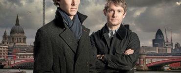 Benedikt Cumberbatch und Martin Freeman als Sherlock Holmes und Dr. Watson