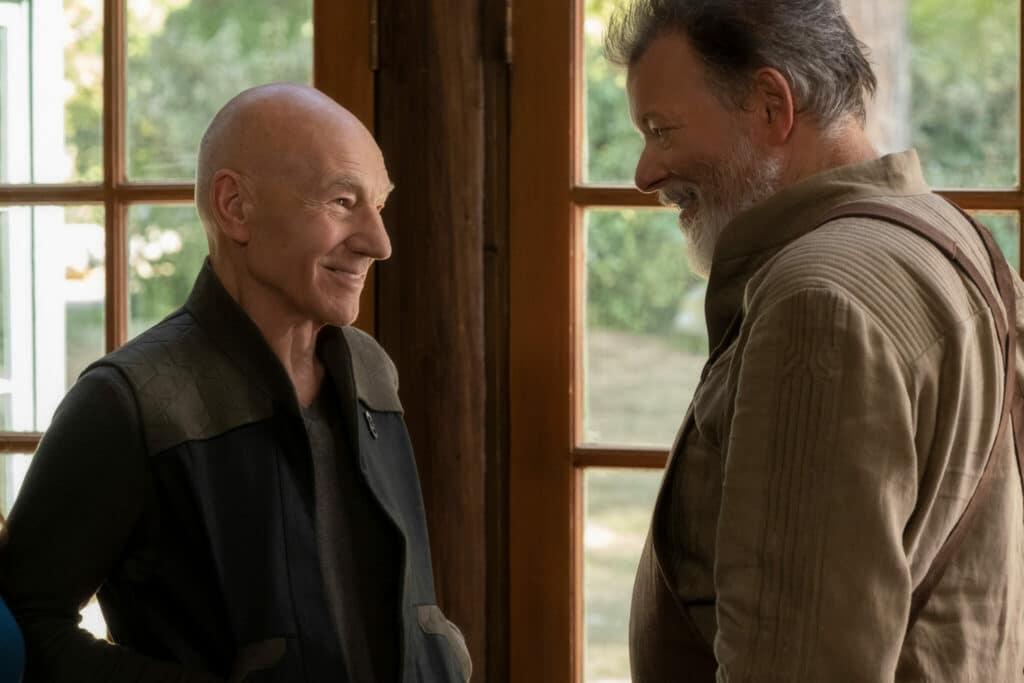 Picard trifft in Star Trek: Picard seine alte Nummer Eins, William Riker, gespielt von Jonathan Frakes, wieder.