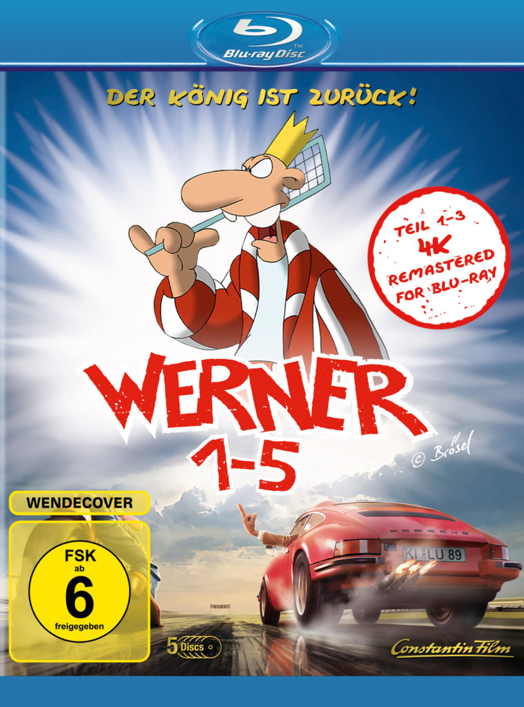 Cover der Blu-Ray-Box, Werner 1 - 5